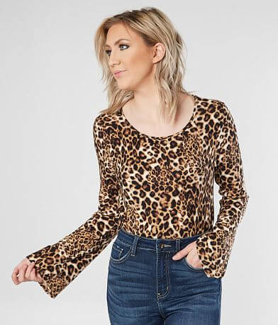 One Urban Day Cheetah Open Back Top