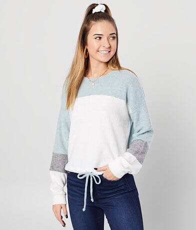 FITZ + EDDI Color Block Fleece Pullover