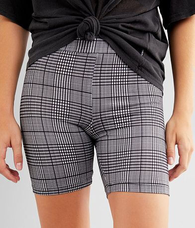 FITZ + EDDI Plaid Knit Biker Short
