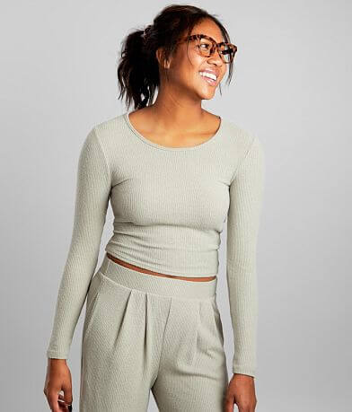 BKE Brushed Knit Cropped Top