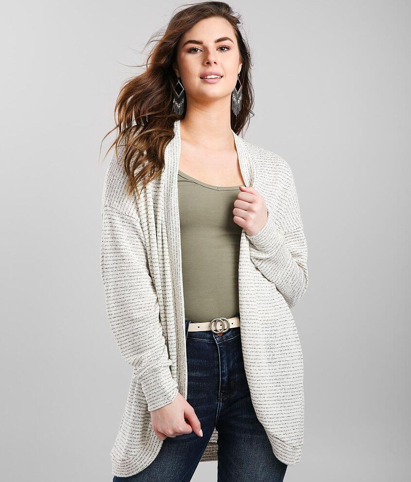 Daytrip Striped Sweater Knit Cardigan front view