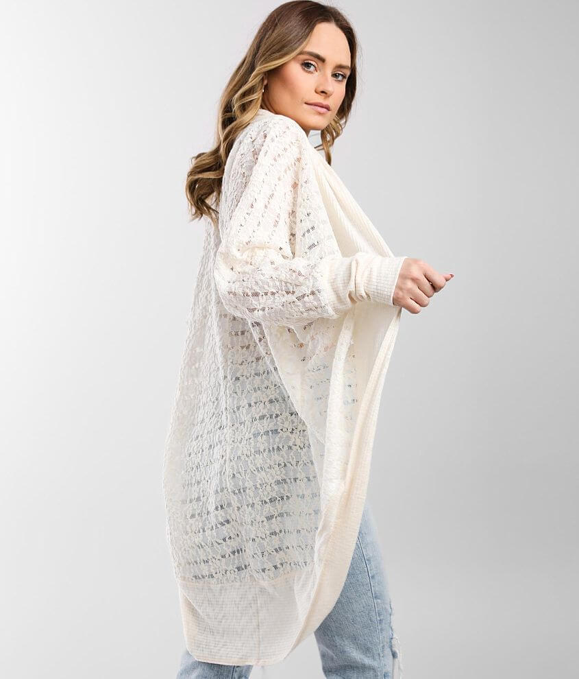 Daytrip Floral Lace Cardigan front view