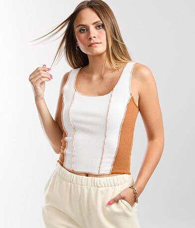 Gilded Intent Color Block Tank Top