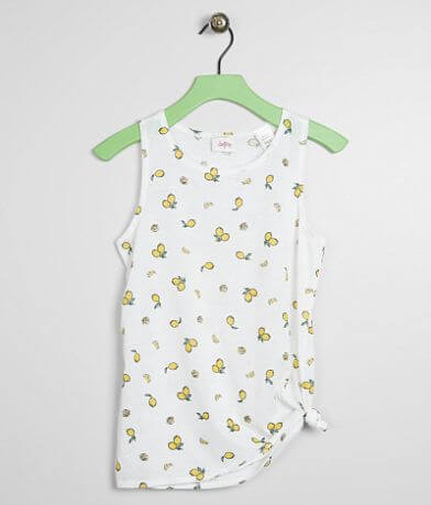Girls - Daytrip All Over Lemon Tank Top