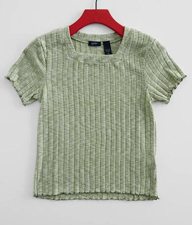 Girls - Daytrip Ribbed Knit Square Neck Top