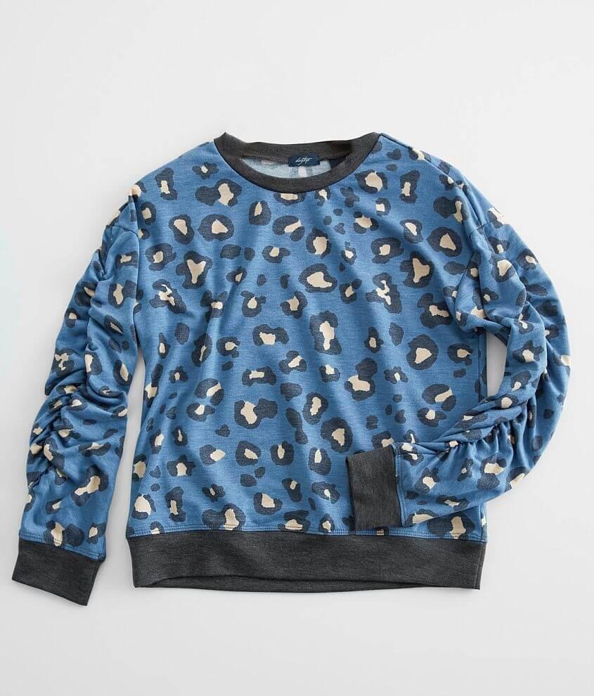Girls - Daytrip Animal Print Pullover front view