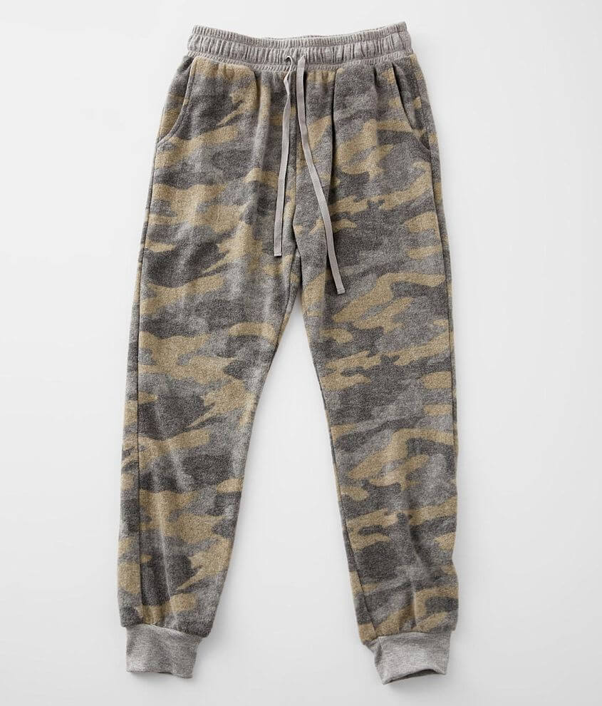 Girls - BKE Brushed Camo Jogger front view