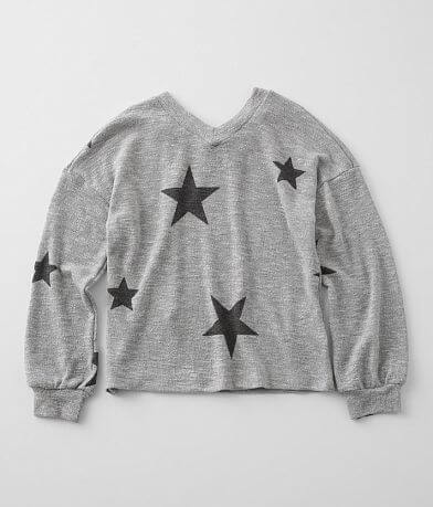 Girls - Daytrip Star Print Lightweight Pullover