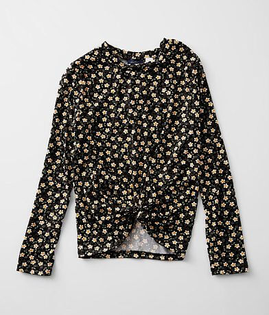 Girls - Daytrip Brushed Knit Daisy Print Top