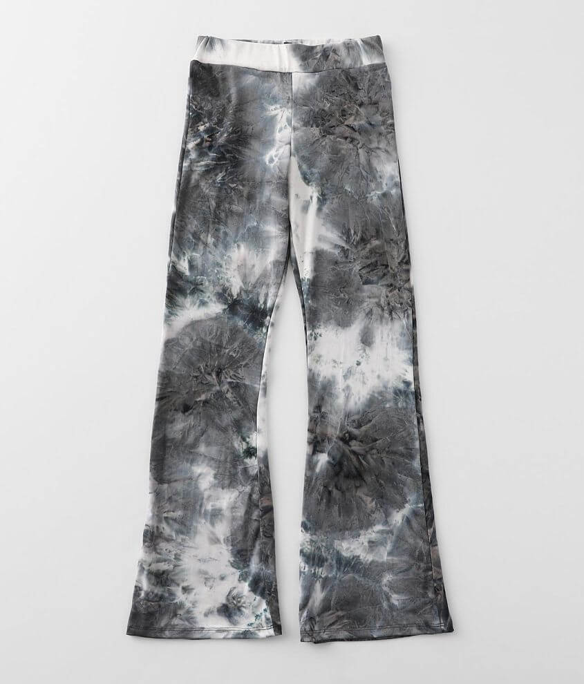 Girls -Daytrip Tie Dye Stretch Flare Pant front view