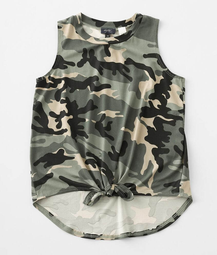Girls - Daytrip Camo Tank Top front view