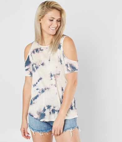 Daytrip Tie Dye Cold Shoulder Top