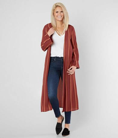 Daytrip Striped Duster Cardigan