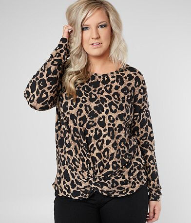 Daytrip Cheetah Top - Plus Size Only