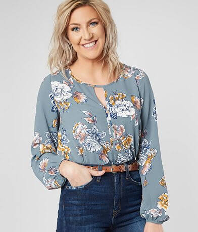 Daytrip Textured Floral Blouse