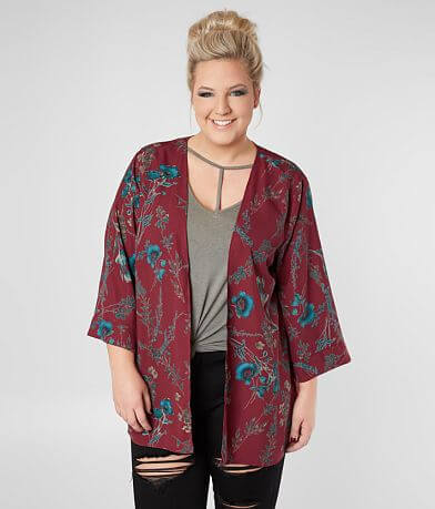 Daytrip Floral Print Cardigan - Plus Size Only