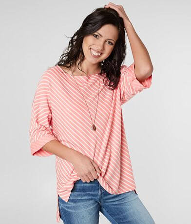 Daytrip Striped Drop Shoulder Top