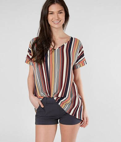 Daytrip Striped V-Neck Top