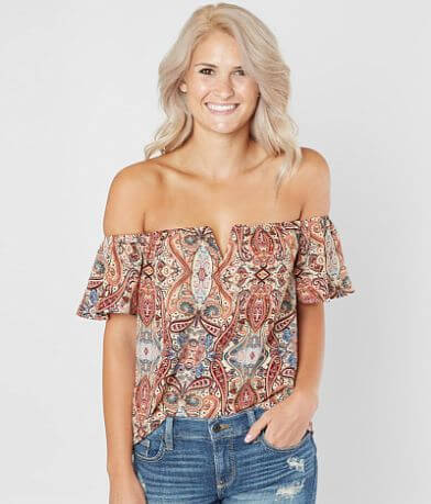 Daytrip Printed Gauze Top