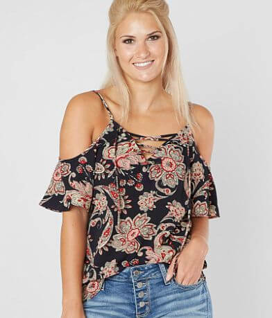 Daytrip Textured Floral Top