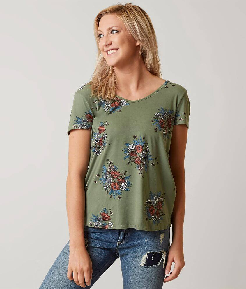 Daytrip Floral Top - Women's Shirts/Blouses in Green | Buckle