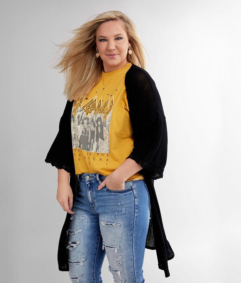 Daytrip Ribbed Knit Cardigan - Plus Size Only front view