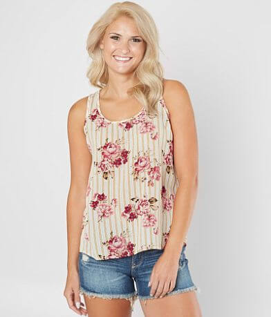 Daytrip Floral Striped Tank Top