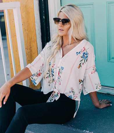 Daytrip Oversized Floral Striped Top