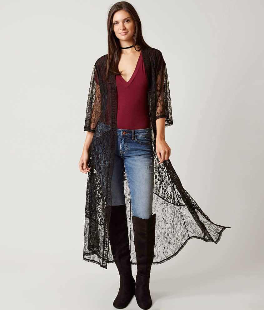 Daytrip Duster Cardigan - Women's Kimonos in Black | Buckle