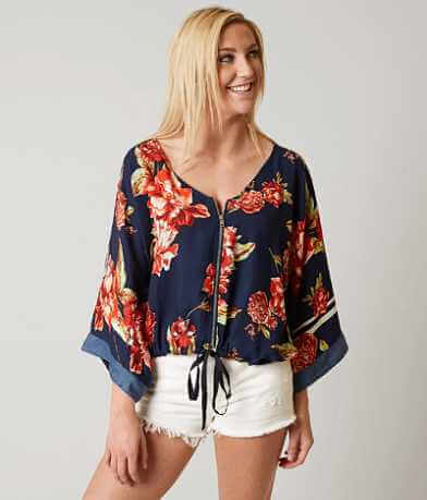 Living Doll Floral Print Cardigan