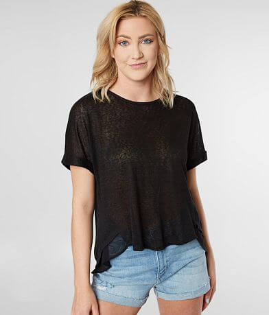 LE LIS Slub Knit Top