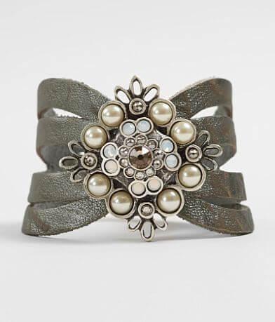 Leatherock Faux Pearl Bracelet