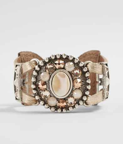 Leatherock Glitz Stone Bracelet