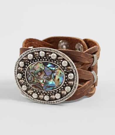 Leatherock Woven Leather Bracelet