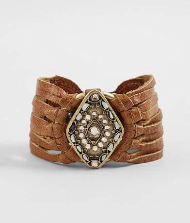 Leatherock Diamond Glitz Pendant Bracelet