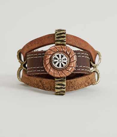 Leatherock Pendant Bracelet