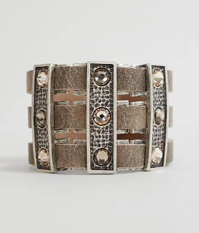 Leatherock Cut-Out Leather Bracelet