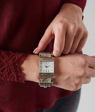 Leatherock Square Leather Watch