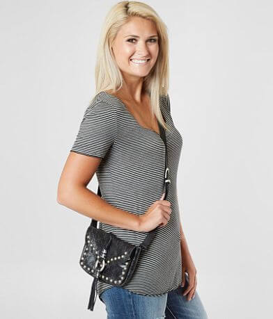 Leatherock Dakota Studded Crossbody Purse