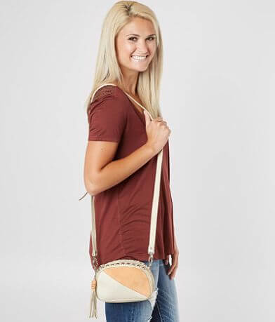 Leatherock Pieced Leather Crossbody Purse