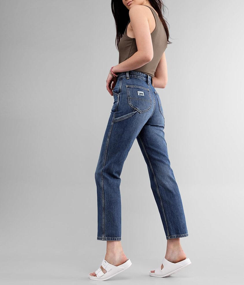 Lee® High Rise Vintage Dungaree Ankle Jean front view