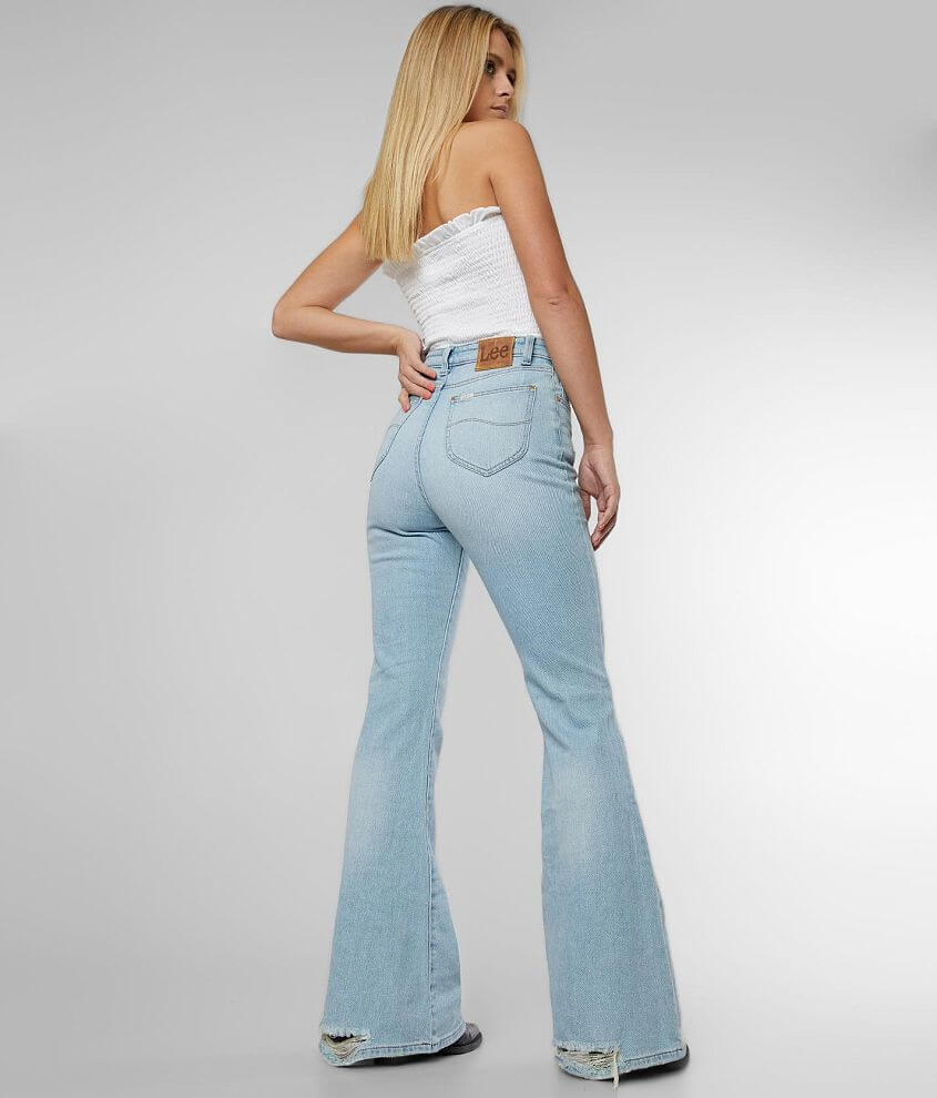 Lee® High Rise Flare Stretch Jean front view