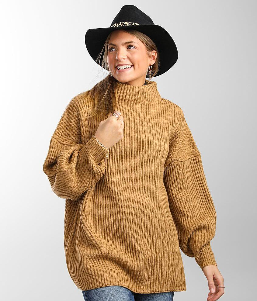 BKE Ribbed Pullover Sweater front view