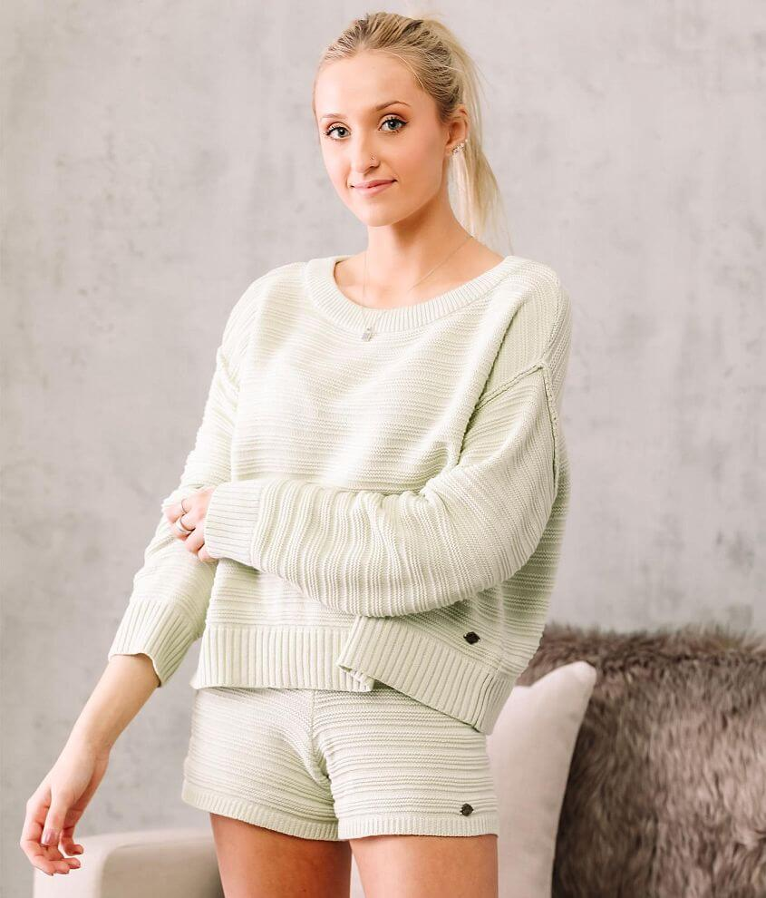 Fade by BKE Ribbed Knit Cropped Pullover front view