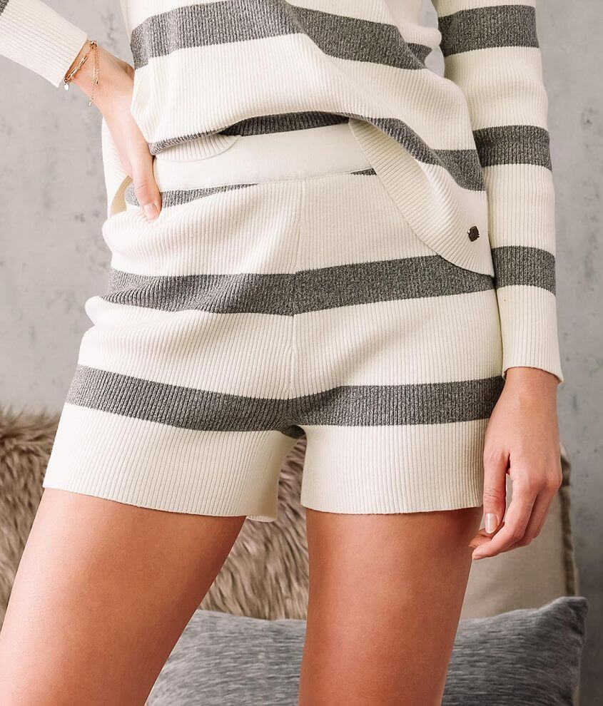 Fade by BKE Wide Striped Knit Short front view