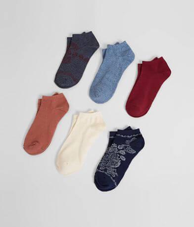 Lucky Brand Bandana 6 Pack Socks