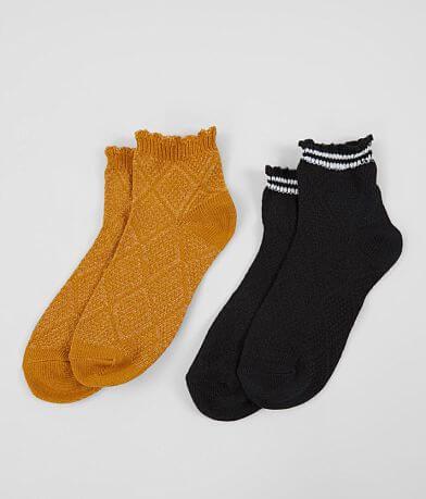 BKE 2 Pack Casual Ankle Socks