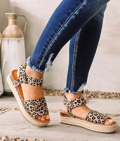 Wild Diva Lounge Karl Espadrille Flatform Sandal