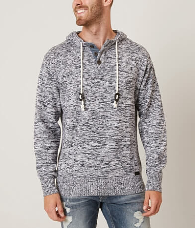Outpost Makers Open Weave Henley Sweater