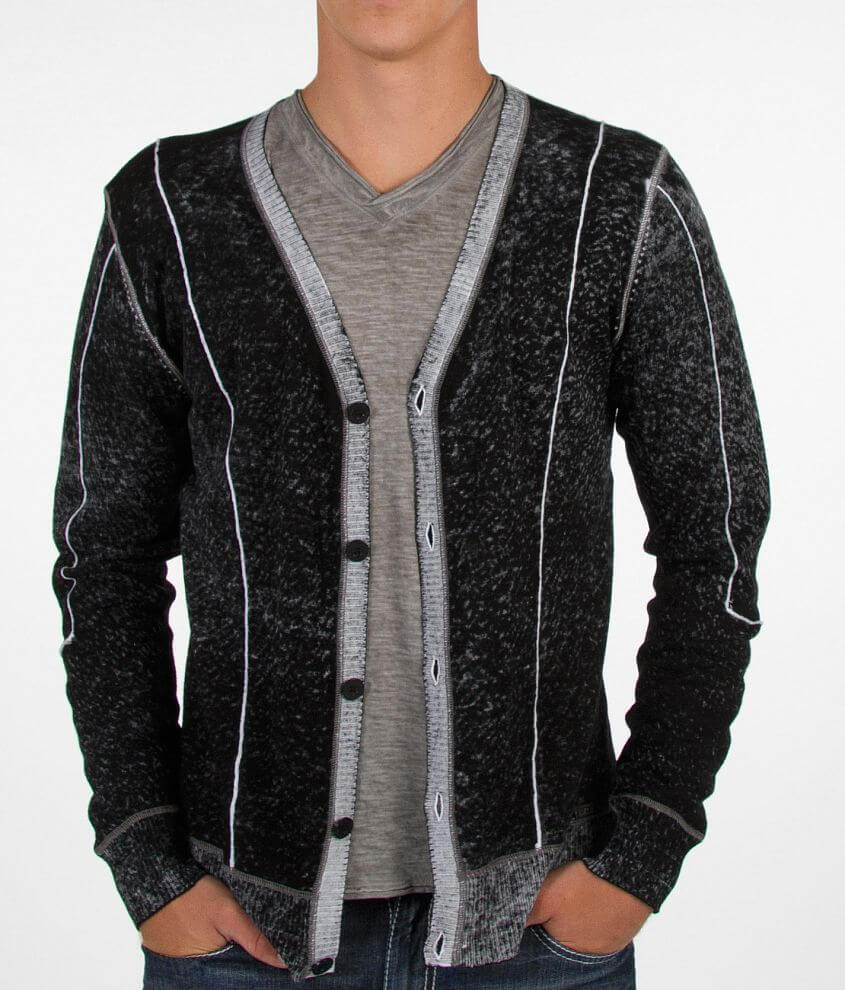 Buckle Black Movin Out Cardigan Sweater front view
